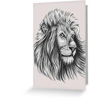 Lion. Greeting Card