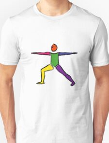 Painting of warrior 2 yoga pose. Unisex T-Shirt