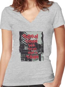 Born in the USA Women's Fitted V-Neck T-Shirt