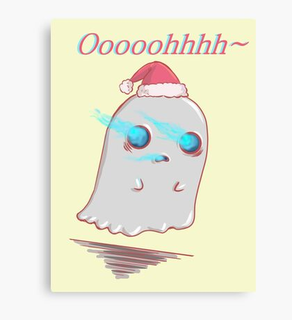 Oooh Ghost Cartoon Canvas Print