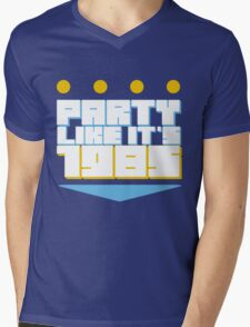 Party Like it's 1985 Crown Mens V-Neck T-Shirt