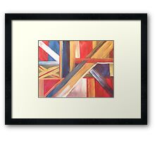 Abstract Flag Framed Print