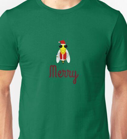 Bee Merry Christmas Holiday T-Shirt Bumblebee Santa shades Shirt Unisex T-Shirt