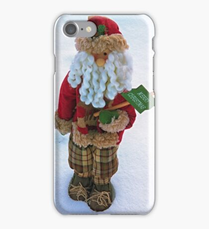 One New Year's toy on snow background iPhone Case/Skin