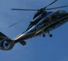 Helicopter on Blue, Chopper Sticker