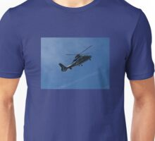 Helicopter on Blue, Chopper Unisex T-Shirt