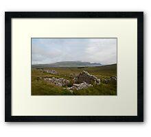 Achill Island Deserted Village 01 Framed Print