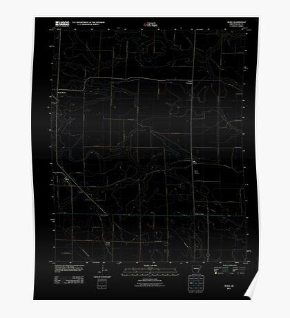 USGS TOPO Map Arkansas AR Moro 20110718 TM Inverted Poster