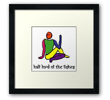 Half lord of the fishes yoga pose Sanskrit Framed Print