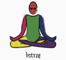 Painting of lotus yoga pose with Sanskrit text. by Mindful-Designs