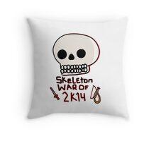Skeleton War of 2k14 Throw Pillow