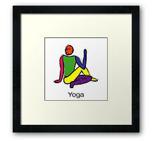 Painting - half lord of the fishes & yoga text. Framed Print