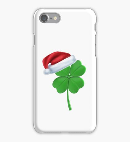 Irish Shamrock Lucky Clover Christmas Holiday Party T-Shirt iPhone Case/Skin