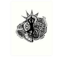 """Namaste"" Yoga Doodle Art Print"