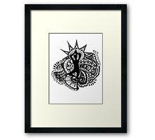 """Namaste"" Yoga Doodle Framed Print"