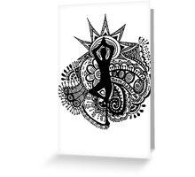 """""""Namaste"""" Yoga Doodle Greeting Card"""