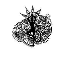 """""""Namaste"""" Yoga Doodle Photographic Print"""