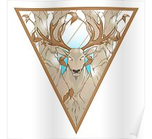 stag in nature triangle Poster