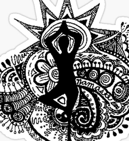 """""""Namaste"""" Yoga Doodle Sticker"""