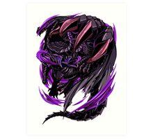 Black Eclipse Wyvern Art Print