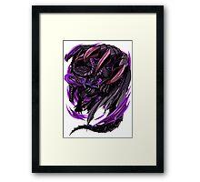 Black Eclipse Wyvern Framed Print