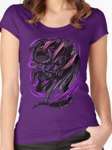 Black Eclipse Wyvern Women's Fitted Scoop T-Shirt
