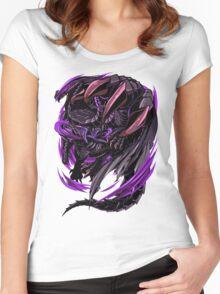 Black Eclipse Wyvern Women's Fitted Scoop T-Shirt