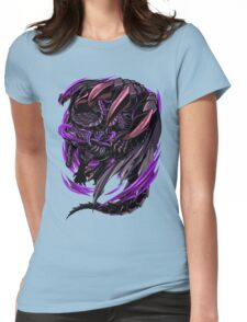 Black Eclipse Wyvern Womens Fitted T-Shirt