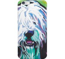 Bearded Collie Bright colorful pop dog art iPhone Case/Skin
