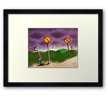 No Happiness Framed Print