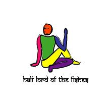 Half lord of the fishes yoga pose Sanskrit by Mindful-Designs