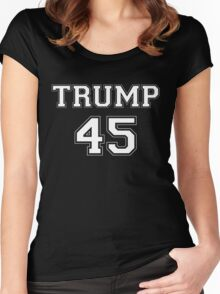 Donald Trump 45th President  Women's Fitted Scoop T-Shirt