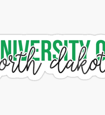 University of North Dakota - Style 13 Sticker