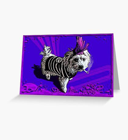 Puppy Punk Greeting Card