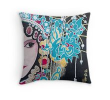 Opera Woman Throw Pillow