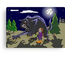 Fetch werewolf, fetch! Canvas Print