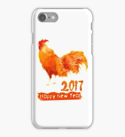 Happy New Year 2017, Fire Rooster iPhone Case/Skin