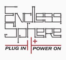 Endless Sphere - Circuit Text - black by Simon Williams