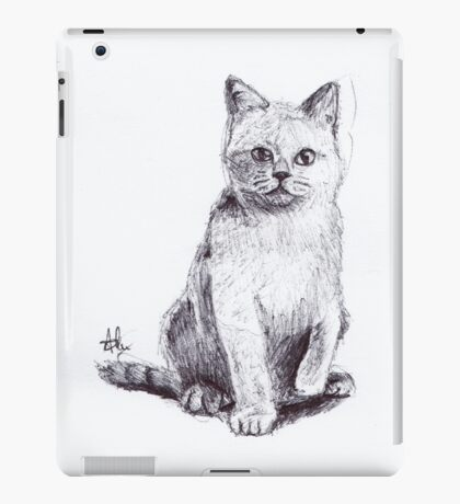 Sketch Cat iPad Case/Skin