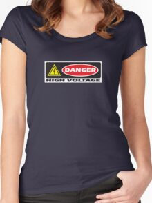 Danger - High Voltage Women's Fitted Scoop T-Shirt