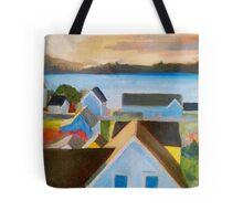 Mendocino Village Tote Bag