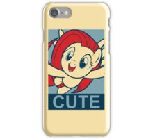 "Fluttershy Cute- ""Hope"" Poster Parody iPhone Case/Skin"