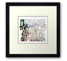 People are like leaves (version a) Framed Print
