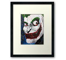 Palette Knife Joker Framed Print