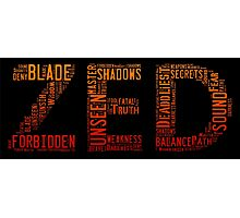 Zed Word Cloud Poster Photographic Print