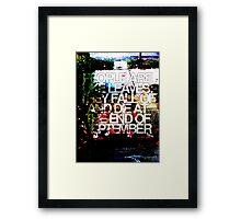 People are like leaves (version c) Framed Print