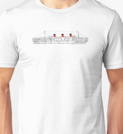 QM Deck Plan w/ color Unisex T-Shirt