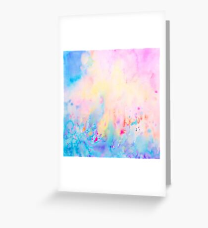 Watercolor Abstract Landscape Art Print Greeting Card