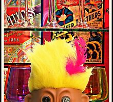 Yellow-Haired Troll in the Coloured Glass Cabinet by mentalembellish