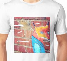 Fox on bricks Unisex T-Shirt